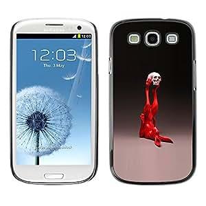 Caucho caso de Shell duro de la cubierta de accesorios de protección BY RAYDREAMMM - Samsung Galaxy S3 - Pop Art Conejo