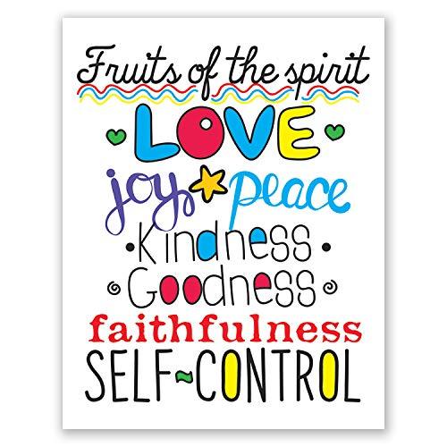 - 8x10 Fruit Of The Spirit Wall Art // Christian Scripture // Home Decor // Children's Poster // Art Print