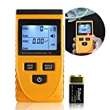 A-szcxtop Digtial Radiation Meter With LCD Light Display Electromagnetic Radiation Detector Dosimeter Counter Tester the Detection of the Electric Field, Magnetic Field