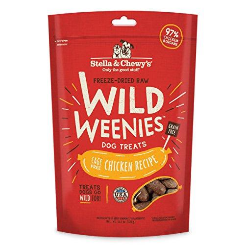 Stella & Chewys Freeze-Dried Raw Chicken Wild Weenies Dog Treats, 11.5 oz bag