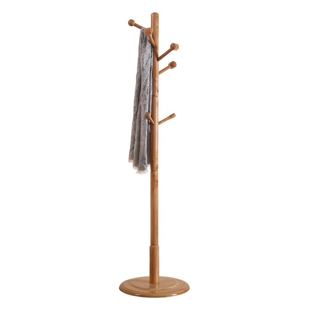 SUNSHINE Solid Wood Coat Rack 170cm Single Pole Floor Clothes Hat Storage Rack Living Room Bedroom
