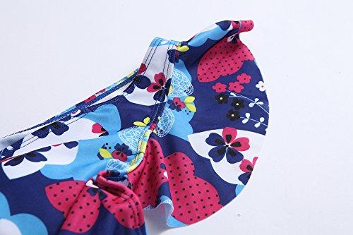 Kemrrey - Traje de una pieza - Floral - Sin mangas - para mujer Mariposa