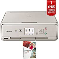 Canon PIXMA TS5020 Wireless Inkjet All-In-One Printer Grey (1367C062) with Corel Paint Shop Pro X9 & 1 Year Extended Warranty