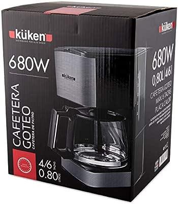Kuken Cafetera Goteo 4-6Tz 0,8L Cromo: Amazon.es: Hogar