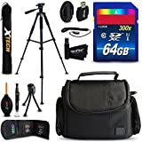 64GB Accessory Kit for Sony Alpha A6300, a6000, a5100, a5000, a3000, Alpha a7II, a7IIK, 7, 7 II, 7S, 7R Digital Cameras includes 64GB High-Speed Memory Card + Fitted Case + 72 inch Tripod + MORE