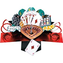 Second Nature Pop Up Card for a Male Special Occasion - Gambling