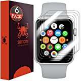 Apple Watch Screen Protector (38mm Series 3/2/1 Compatible)(6-Pack), Skinomi TechSkin Full Coverage Screen Protector for Apple Watch Clear HD Anti-Bubble Film