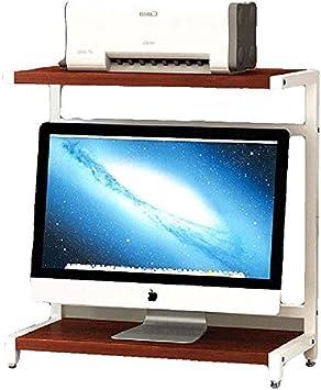 Organizador de impresoras 2 Nivel de mesa de madera estante del ...
