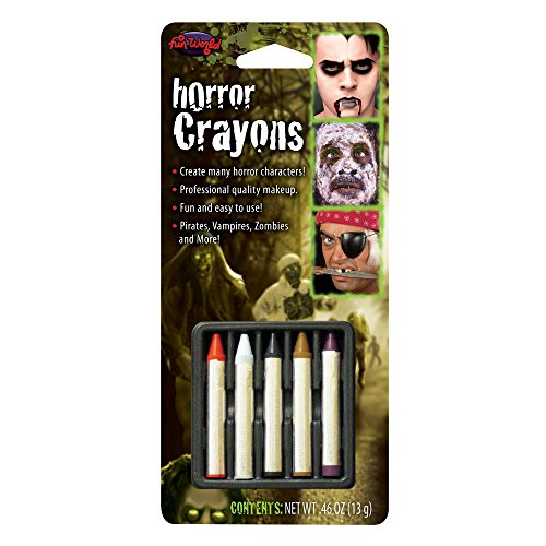 Fun World Unisex-Adult's 6 Color Horror Crayons, Multi Standard -