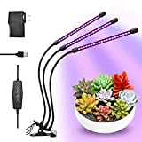 Grow Lights, 30W 60 LEDs Growing Lamp for Indoor Plants 6 Dimmable Levels Gooseneck Arms & Spring Clip – Triple Head Divided Control Auto on & off with 3/6/12H Memory Timing for Hydroponics Greenhouse For Sale