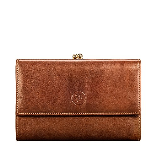 Classic Italian for Marcialla The Maxwell Tan Handcrafted Luxury Large Purse Full Grain Scott® Coin Leather Women qptRp6