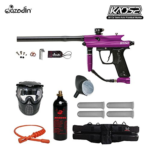 11. Azodin Kaos 2 Silver Paintball Gun Package