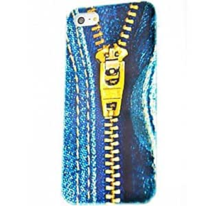 HP Jeans Zipper Pattern Polycarbonate Hard Case for iPhone 5/5S