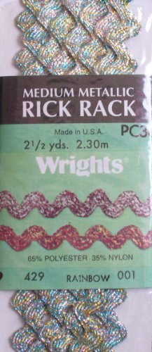 Medium Metallic Rick Rack - Wrights Rick Rack: Medium Metallic Rainbow