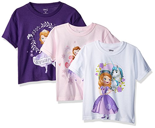 Disney Girls' Sofia The First 3-Pack Short Sleeve T-Shirt