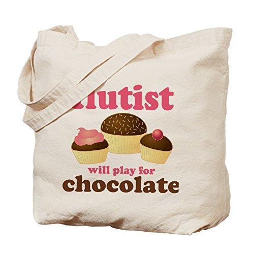 CafePress, motivo cioccolato Flauto–Borsa di tela naturale, panno borsa per la spesa