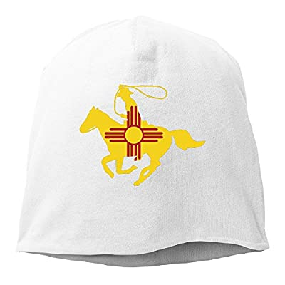 New Mexico Flag Cowboy White Hedging Knitted Hat Beanies Caps