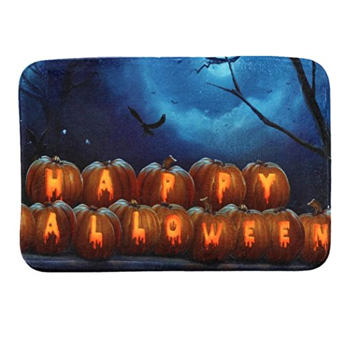 Livoty Halloween Welcome Doormat Shower Carpet Non-Slip Floor Doormat Entrance Rug Mat (Rob Zombie No Halloween 3)