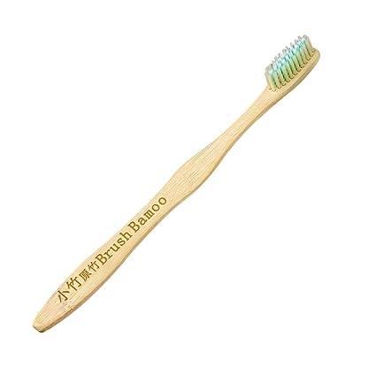 Cepillo de dientes de bambú natural Ultra cerdas de madera mango del cepillo Oral Care El
