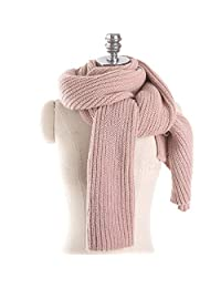 Knitted Scarf for Women, FollowYT Women Men Winter Thick Cable Knit Wrap Chunky Warm Scarf