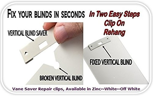 Vane Saver for Vertical Window Blind 20/Pack (Coverings Accessories Hardware Treatment)