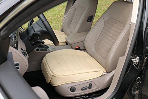 Bmw X5 Seats ((W53x L54cm) PU leather car seat cushion car seat protectorcar seat cover for BMW/ 5 Series, X3, X4,X5 & Audi A8 / Q7/Mercedes Benz GLS / GL / M / S (L, Beige))