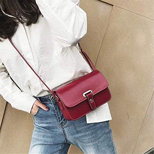 バッグ、新しいファッションベルト小さな正方形のバッグ、野生の小さなバッグ、シンプルなレトロショルダーバッグメッセンジャーバッグ、赤、20 * 13 * 7 Cm 美しいファッション