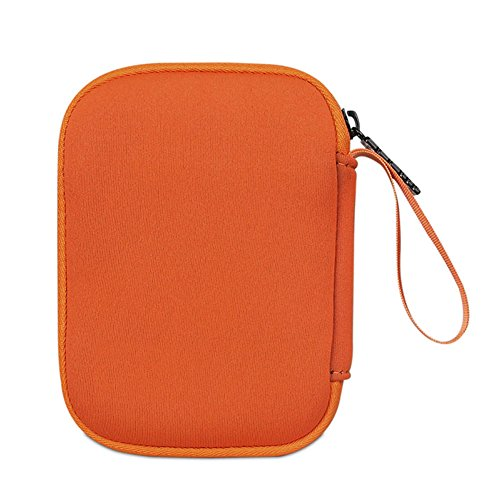 BUBM Enclosure 2.5'' USB 3.0 Hard Drive Bag Power Bank Portable Charge Travel Case, 5.9'', Orange (QYD-S-02) by BUBM (Image #5)