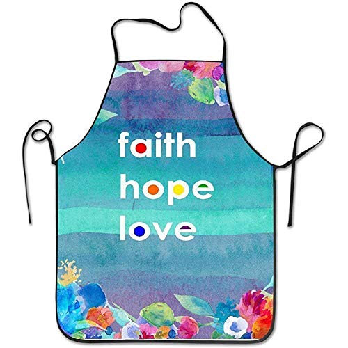 SPHGdiy Funny Kitchen Cooking Apron Faith Love Hope Home Comfortable by SPHGdiy