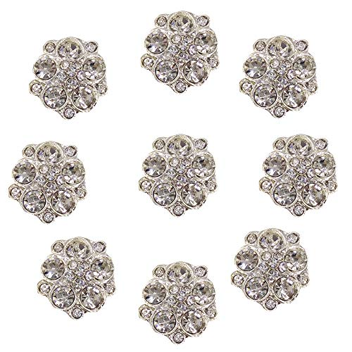 Arlai Box of 40pcs 15mm Irregular Rhinestone Flower - Button DIY Wedding Decoration, Accessory Decoration