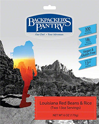 Backpacker's Pantry Non GMO, Gluten Free Louisiana Red Beans and Rice, Vegetarian Two-Serving Meal, 6 Ounces