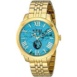 Versus by Versace Men's SOV050015 Chelsea Analog Display Quartz Gold Watch