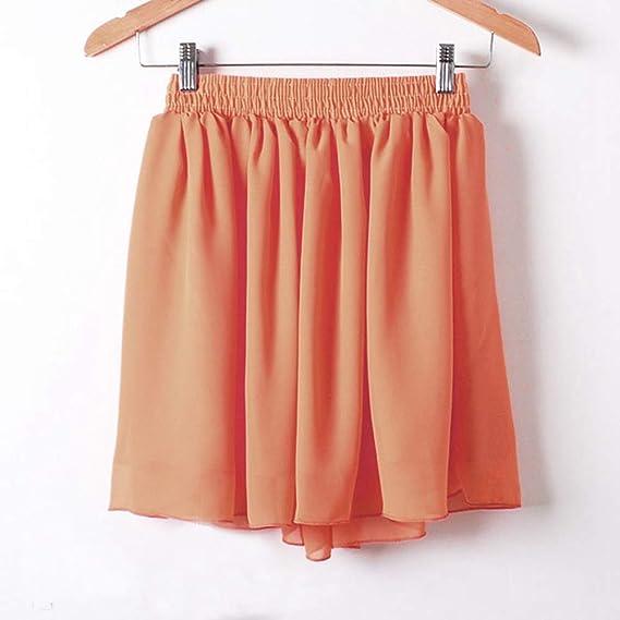 HEHEAB Falda,Mini Falda Naranja Verano Europa Modelos De Comercio ...