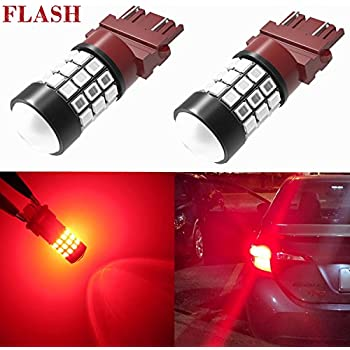 Alla Lighting 3156 3157 LED Strobe Brake Lights Bulbs Super Bright T25 3056 3057 3457 4157 4057 3157 LED Bulbs for Cars Trucks RVs SUVs Flashing Strobe ...