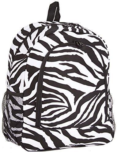 Ever Moda Zebra School Backpack (Black)