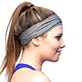Red Dust Active Lightweight Sports Headband - Moisture Wicking Pink Sweatband - Ideal for Running, Cycling, Hot Yoga and Athletic Workouts - Designed for Women Borrowed by Men