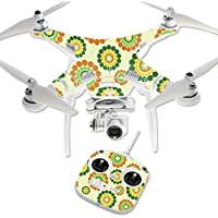 MightySkins Protective Vinyl Skin Decal for DJI Phantom 3 Standard Quadcopter Drone wrap cover sticker skins Flower Power1