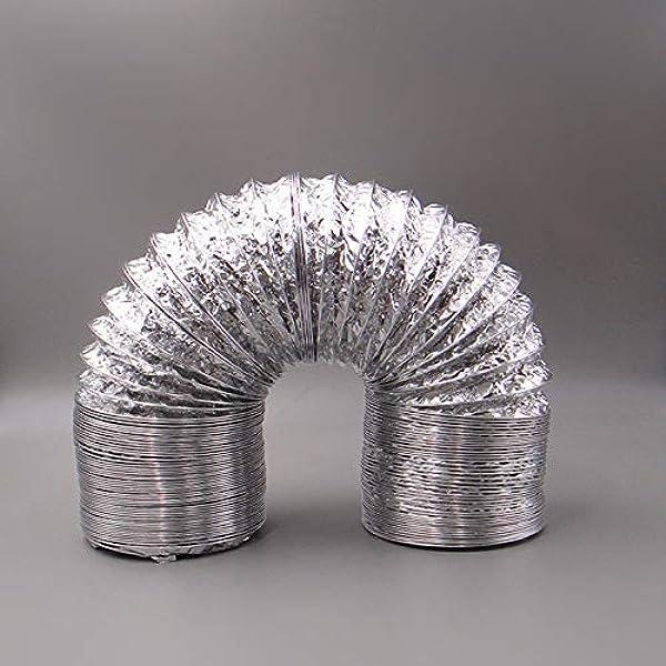 Blauberg UK - Conducto flexible de aluminio para extractor de ventilador, baño, cocina, inodoro, ventilación doméstica, filtro de tienda de campaña para cultivo hidropónico: Amazon.es: Bricolaje y herramientas