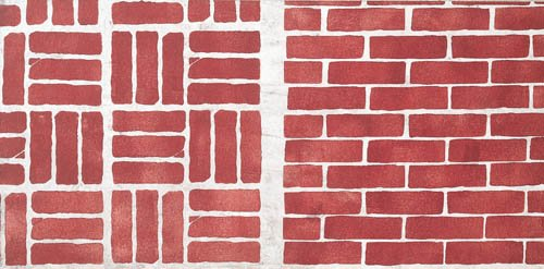 Bricks Stencil - Stencil only - 7.5 mil standard (Concrete Brick And Designs Patio)