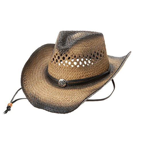 Coyboy Hat - Hats & Caps Shop Outback Tea Stained Toyo Straw Coyboy Hat - By TheTargetBuys | (NATURAL)