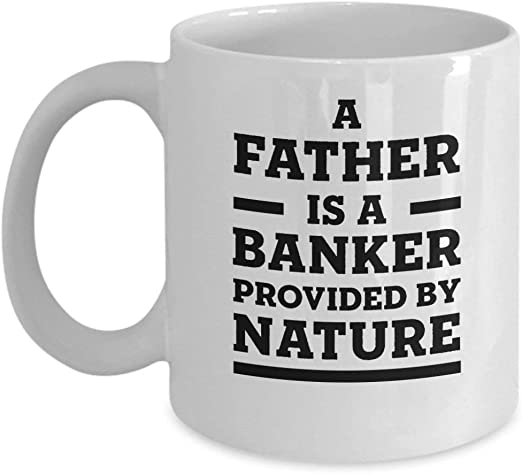 com oz coffee mug a father is a banker provided by