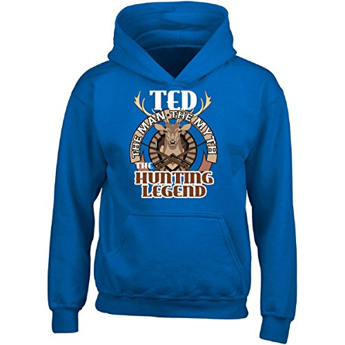 Ted Adult Hoodie (Ted The Man The Myth The Hunting Legend Funny - Adult Hoodie 4xl Royal)
