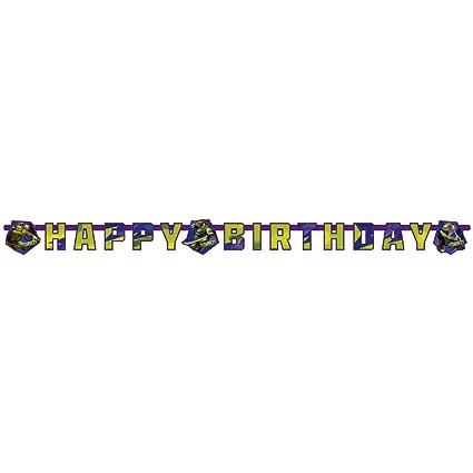 Guirnalda de cumpleaños 180x15cm tortugas ninjas mutantes ...
