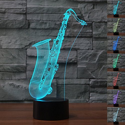 Bedoo Christmas Gift Magic Saxophone Lamp 3D Illusion, used for sale  Delivered anywhere in USA