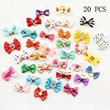 20 Pcs Handmade Pet Grooming Accessories Products Dog Bow Hair Little Flower Bows