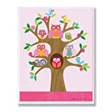 The Kids Room by Stupell Owls, Birds, and Squirrel in a Tree Rectangle Wall Plaque