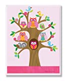 The Kids Room by Stupell Owls, Birds, And Squirrel In A Tree Rectangle Wall Plaque, 11 x 0.5 x 15, Proudly Made in USA