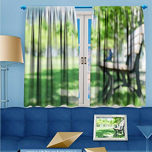 Boulevard Dining Room - L-QNHOME Solid Grommet top Thermal Insulated Window Blackout Curtains Graduation season with campus Boulevard for Dining Room 72