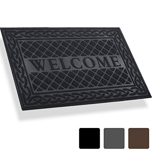Mibao Entrance Door Mat, 24 x 36 inch Winter Durable Large Heavy Duty Front Outdoor Rug, Non-Slip Welcome Doormat for Entry, Patio ()