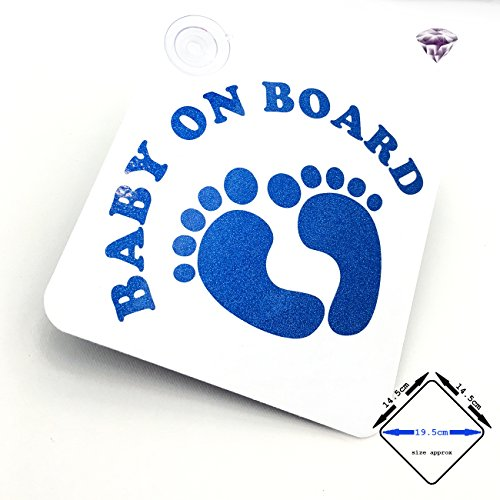car sign with suction cups BABY ON BOARD Cute Feet